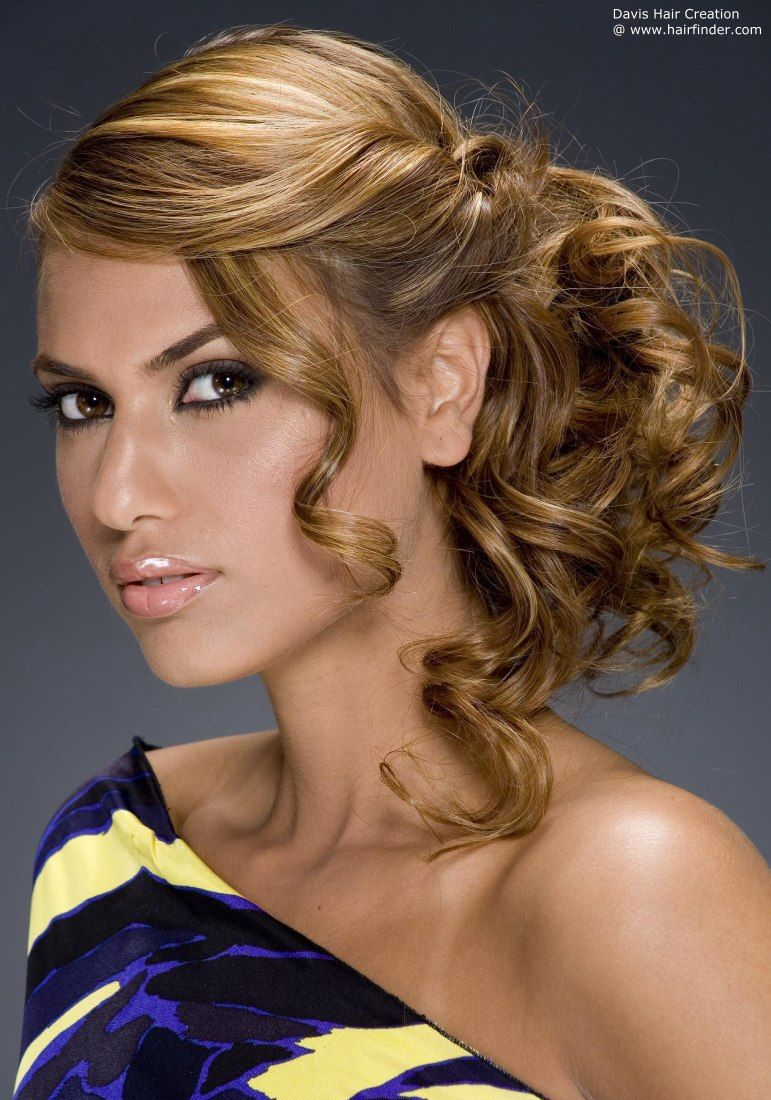 Hairstyles For Formal Dances Side Swept Up Mid Length Wedding Hair Pinterest Hairstyles
