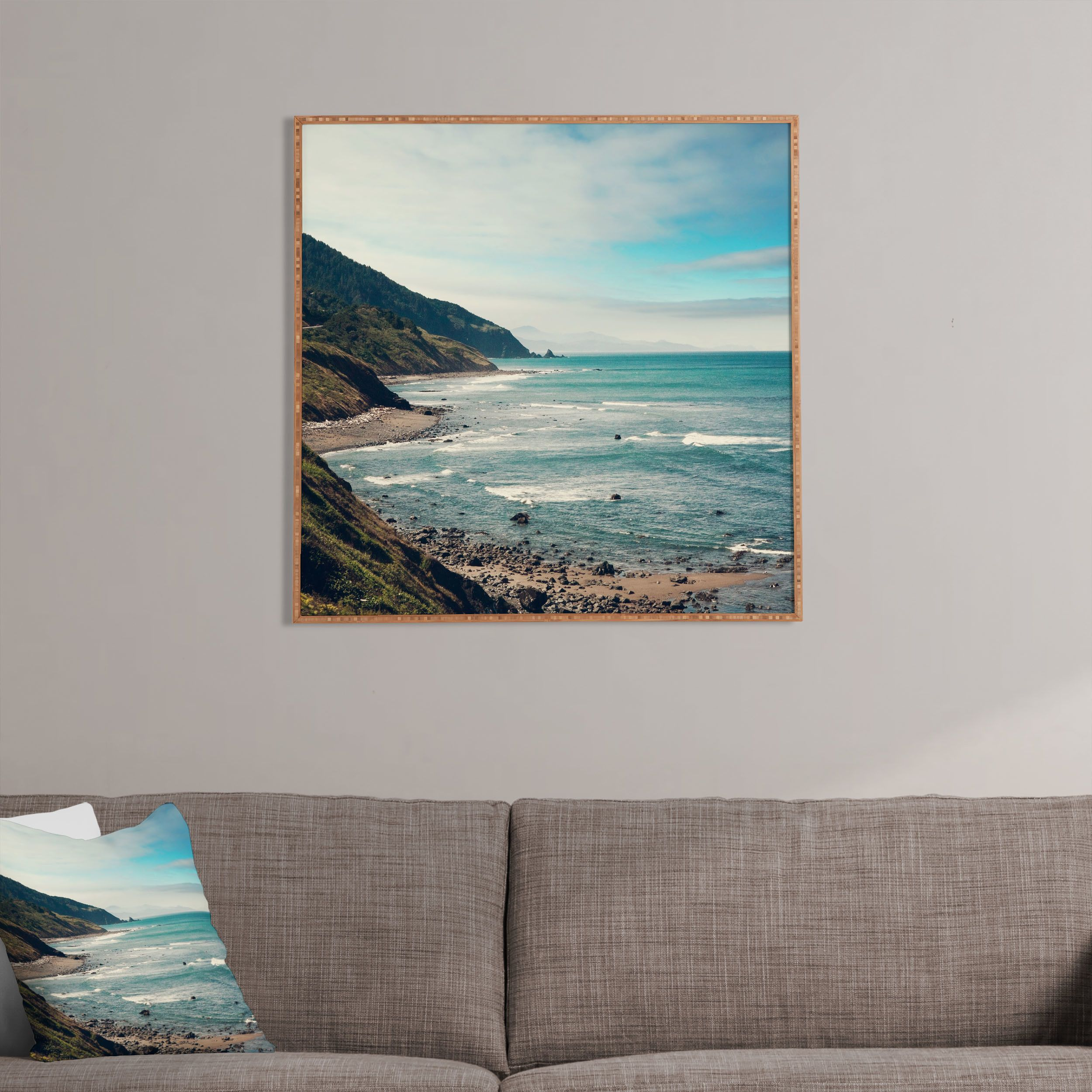 Deny Designs California Pacific Coast Highway By Catherine Mcdonald Framed