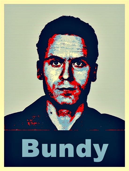 Serial Killer Ted Bundy - Obama Style Poster Pop Art  | Pop
