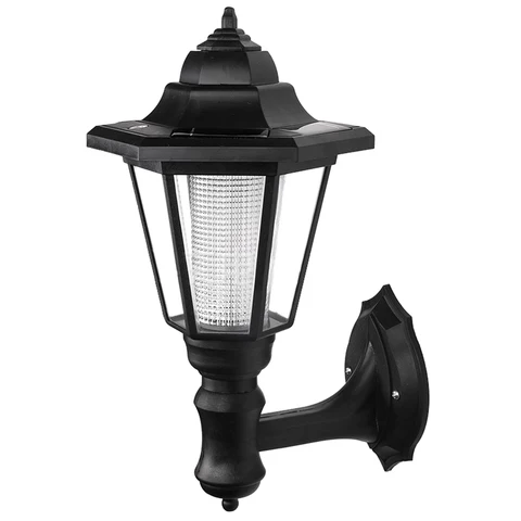 Solar Power Led Light Path Way Wall Landscape Mount Garden Fence Lamp Outdoor In Solar Lamps From Lights Lighting Solar Lamp Led Wall Lamp Solar Wall Lights