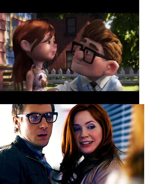 GUYS GUYS GUYS THIS IS ACCURATE. Because in Up, Mr. Fredericksen's wife can't have kids.....and neither can Amy.........