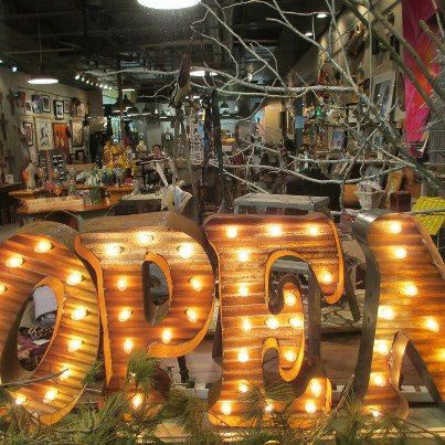 24 inch recycled vintage barn tin metal lighted marquee letters numbers any one you want