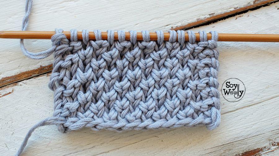 Cómo tejer el Punto Brioche Cruzado: más fácil que el original ...