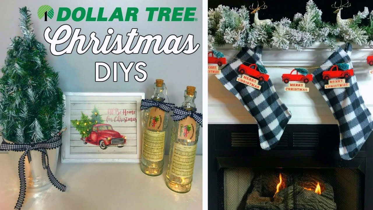 Dollar Tree Christmas Diys 5 Easy Ideas Red Truck Buffalo Check Youtube Buffalo Check Christmas Decor Dollar Store Christmas Dollar Tree Christmas