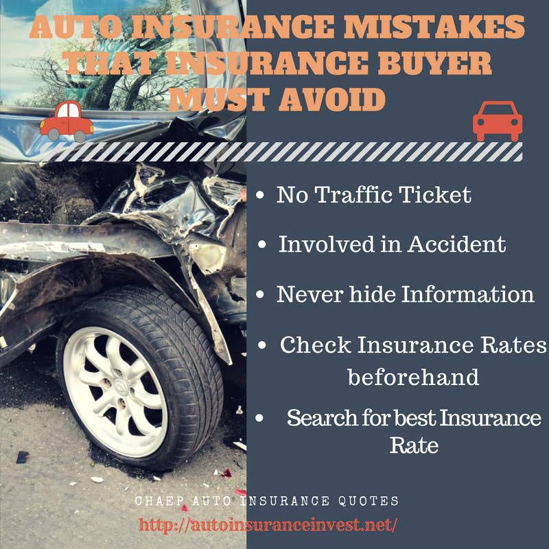 5 Auto Insurance Mistakes That Insurance Buyer Must Avoid With