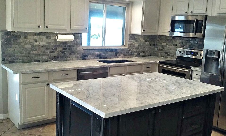 Kitchen Remodel In Scottsdale With Bianco Carrara Marble. Call Today For A  Free Estimate.