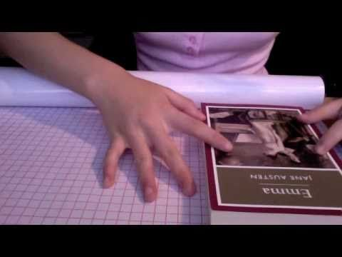 3 Ways To Cover A Paperback Book With Clear Plastic Film Wikihow Wrapping Books Book Cover Diy Book Wrapping