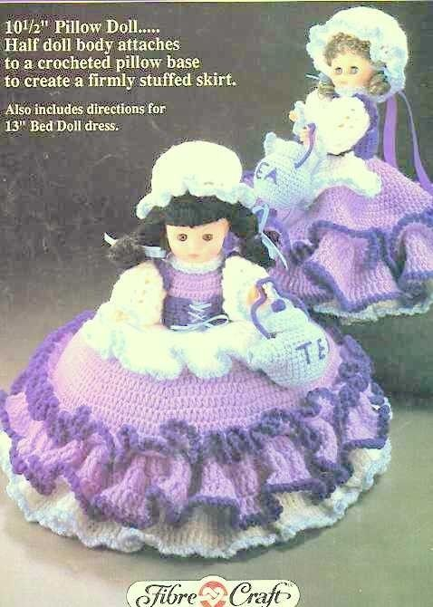 Polly Put The Kettle On 10513 Pillow Bed Doll Crochet Pattern
