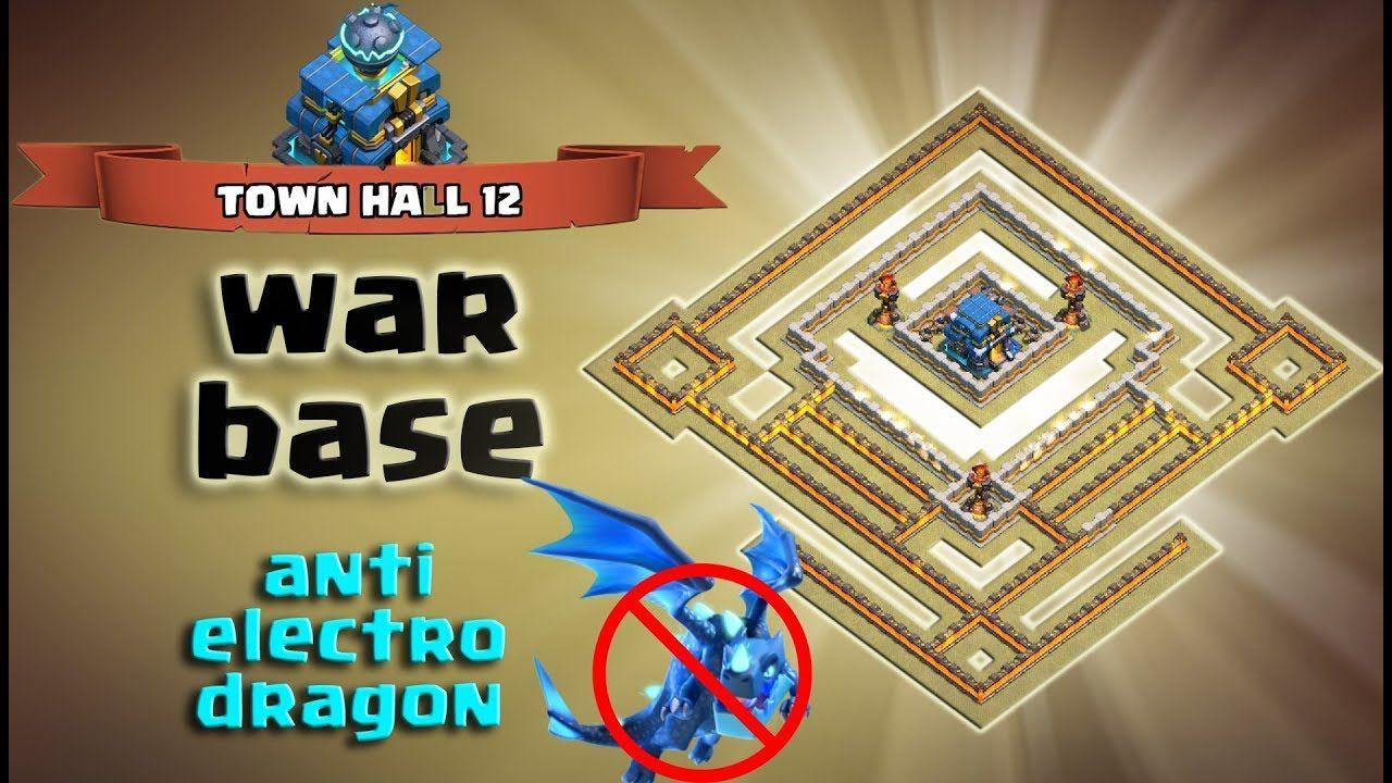 Best Th12 War Base Anti Electro Dragon 5