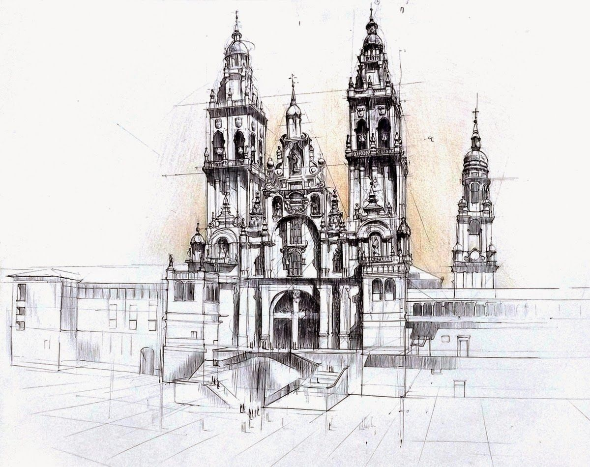 14 Gothic Cathedral Lukasz Gac DOMIN Poznan Architectural Drawings Of Historic Buildings Designstack Co 1200x950