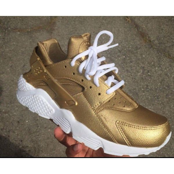 Gold Nike Air Huarache Nike Huarache Golden Antique Gold Nike Huarache...  ( 190) ❤ liked on Polyvore featuring shoes 3525ee5163ea