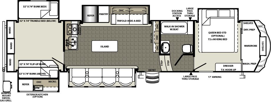 Forest River Motorhome Floor Plans: Sierra Fifth Wheels By Forest River RV