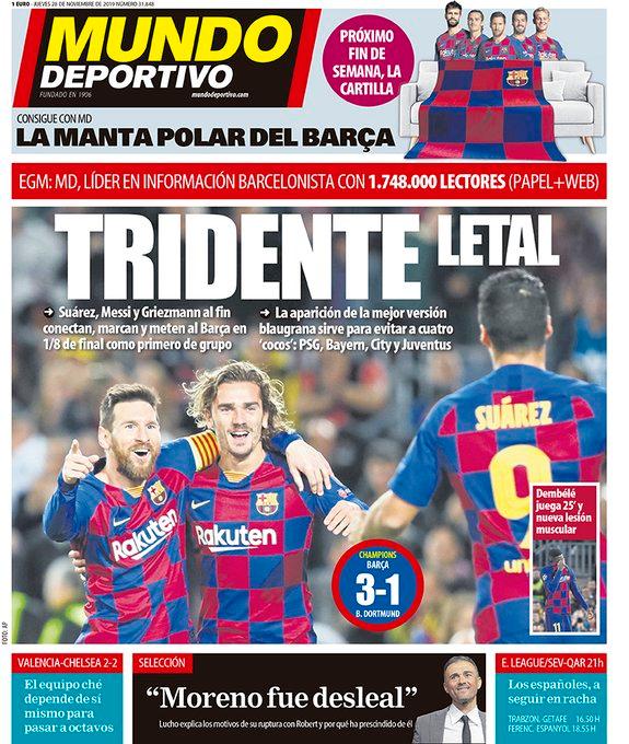 """Mundo Deportivo en Twitter """"🗞️ Esta es nuestra portada de"""