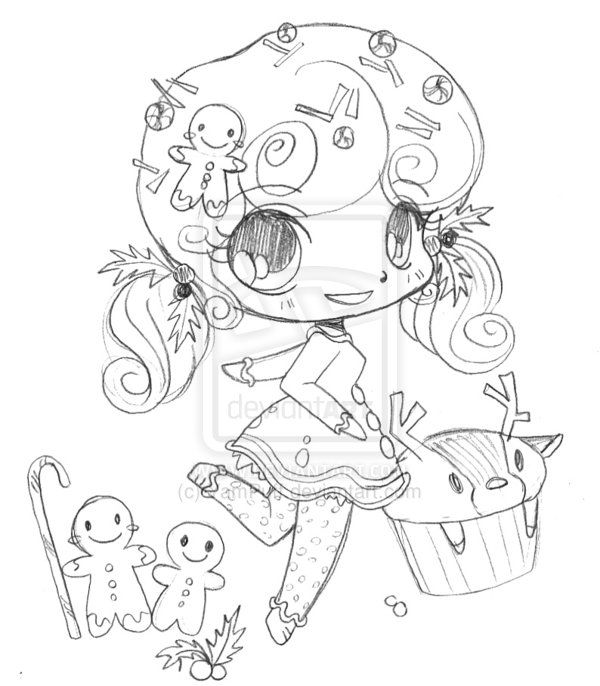 Gingerbread Minichib Commission Sketch By Yampuff On Deviantart