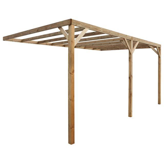 castorama carport bois