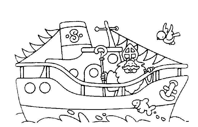 Kleurplaten Sinterklaas Stoomboot.Stoomboot Sinterklaas Kleurplaat Google Zoeken
