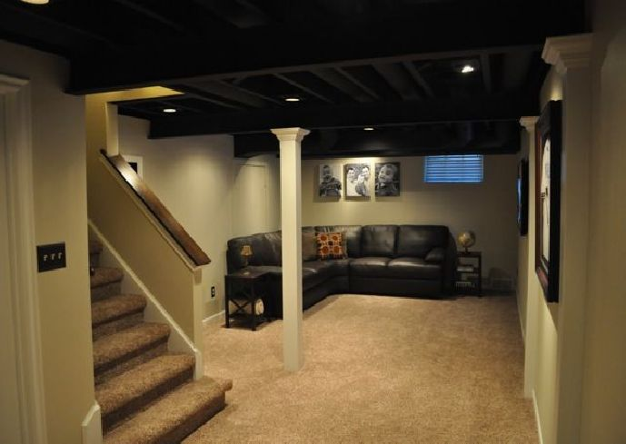 ideas basement ideas basement remodeling low ceilings painted ceilings