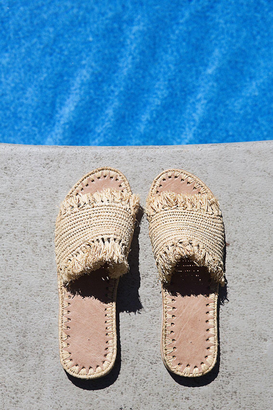 fb63b79141ad7 Natural Raffia Sandals Moroccan shoes
