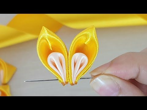Amazing Ribbon Flower Work - Hand Embroidery Flowers Design - Sewing Hacks - Easy Flower Making - YouTube #ribbonflower