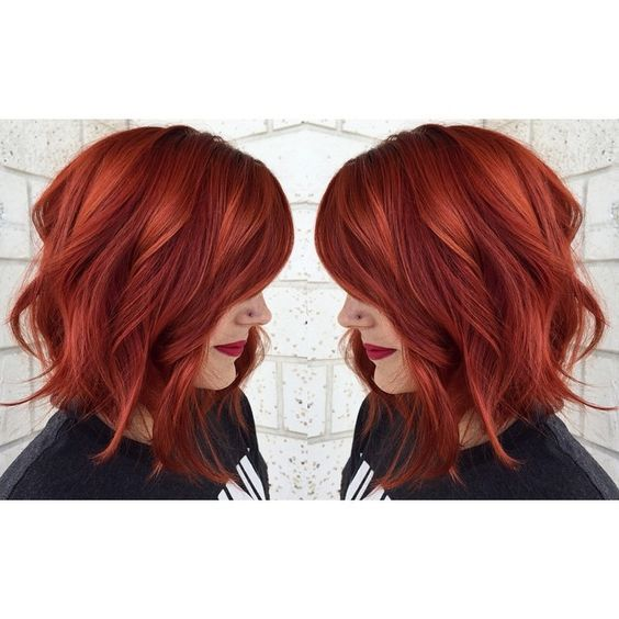 Hot Copper Red Hair Achieved From Aveda Color Photo Credit Https