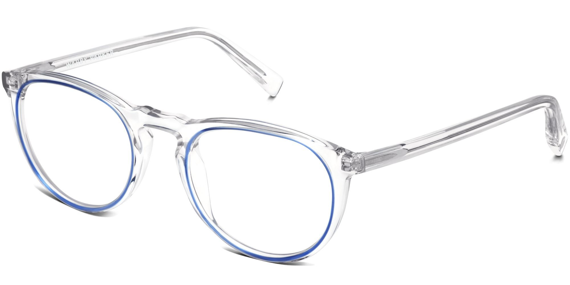 Warby Parker Haskell in Crystal & Blue Jay | starting @ $145 ...