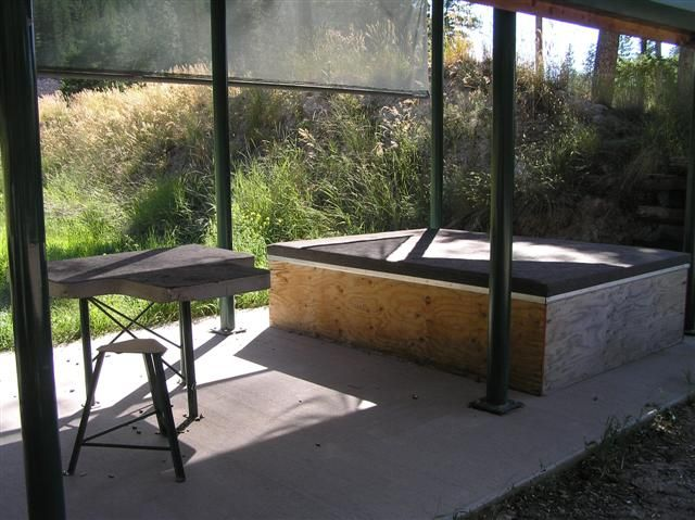 Prone shooting position platform don 39 t get to comfy and take a nap shooting range design for Outdoor shooting range design plans