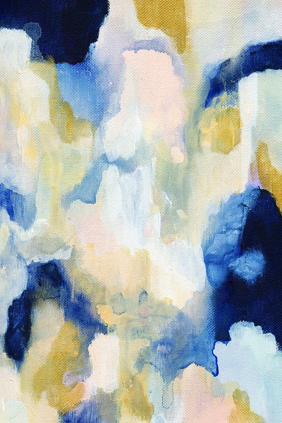 Paloma, Abstract Print, Fine Art Print, from Original Acrylic Abstract Painting, 10x15-24x36in, large abstract, gold, blue