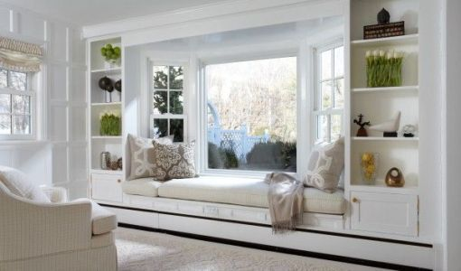 Beautiful Designs For Windowsill In White Color Reading Nook