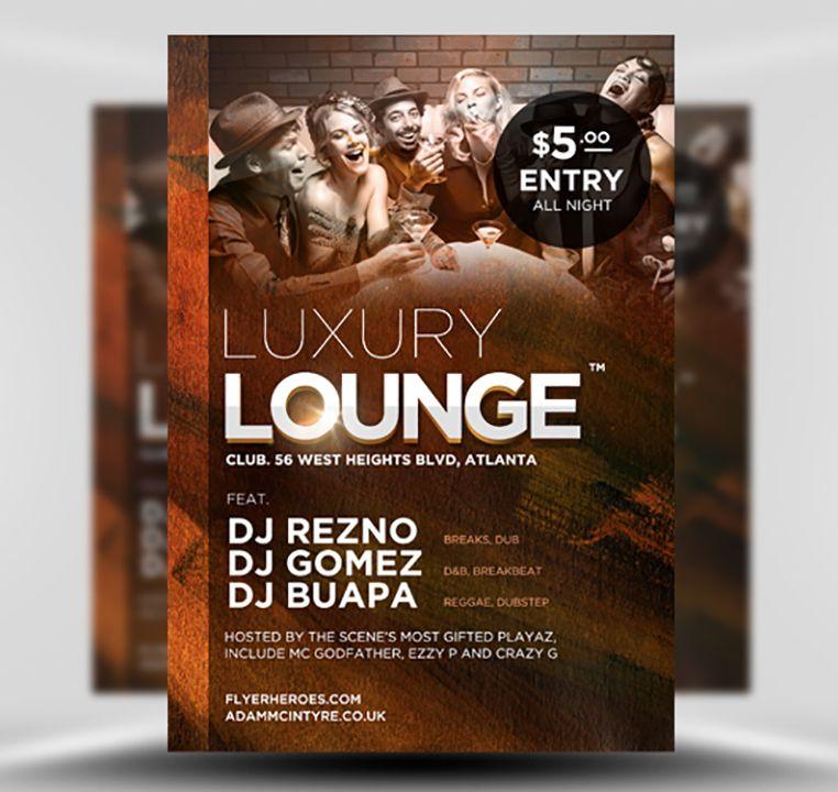 Luxury Lounge Free Flyer Template Flyerheroes Free Psd Flyer Templates Psd Flyer Templates Free Psd Flyer