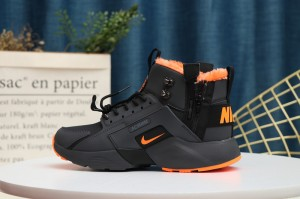 Nike Air Huarache Run Ultra Black Orange Footwear Wmns Running ...