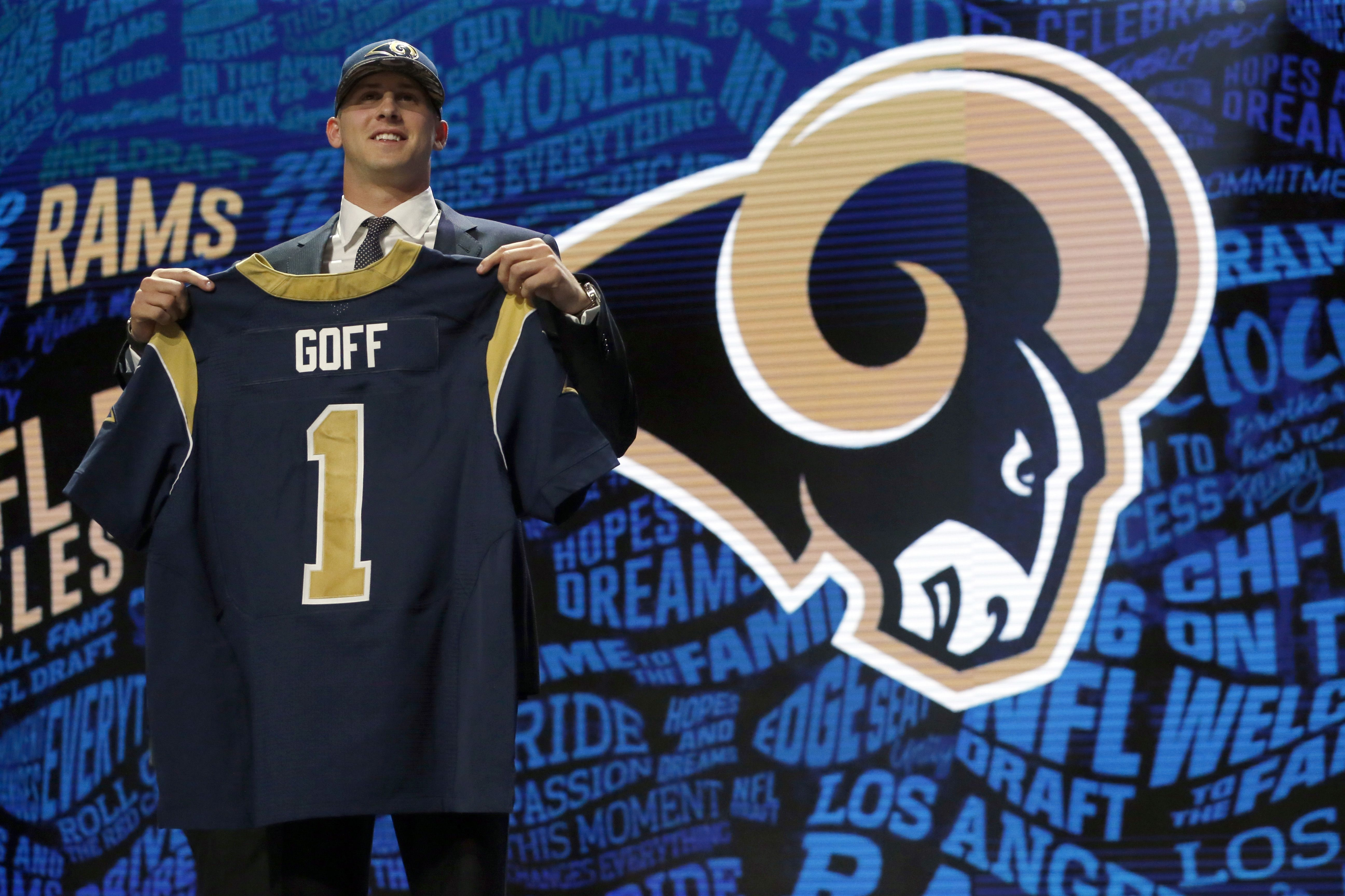 The Los Angeles Rams Used Their Newly Acquired No 1 Pick Select Jared Goff From Cal Were They The Winners Of The Night Tun Football Photos Nfl Draft La Rams