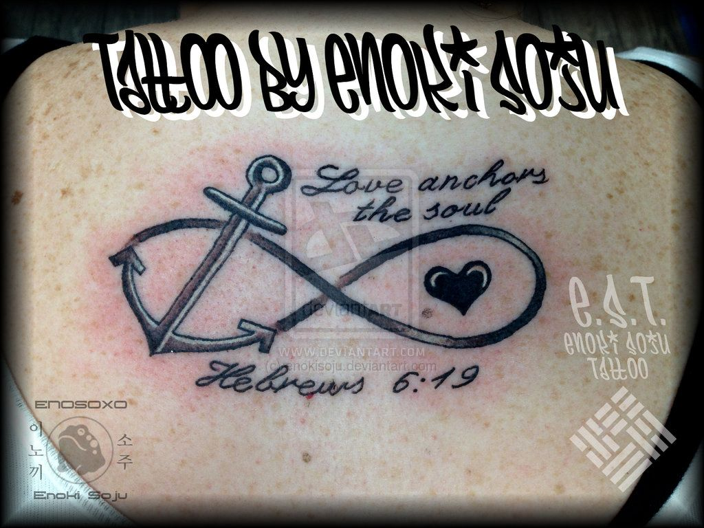 Custom script infinity anchor heart tattoo enoki by enokisoju custom script infinity anchor heart tattoo enoki by enokisojuiantart on buycottarizona Images