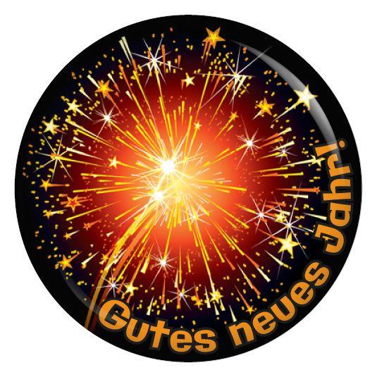 Button Gutes neues Jahr! Orange
