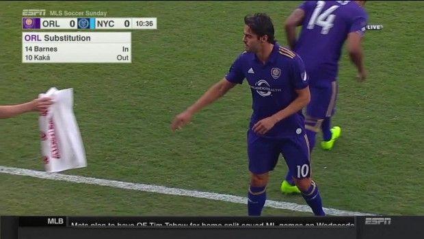 #MLS  INJURY: Kaka suffers injury, immediately subbed out