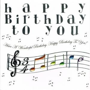 Image result for picture of happy birthday with music notes ...