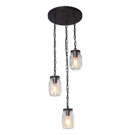 Gracie Oaks Christon 3 - Light Cluster Jar Pendant | Wayfair #kronleuchterauseinmachgläsern