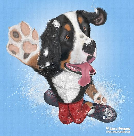 Bernese Mountain Dog Bernese Mountain Dog Dog Artwork Dogs