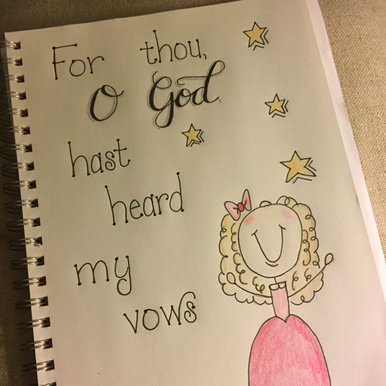 Bible journaling hand lettering scripture art for Hand lettering bible journaling