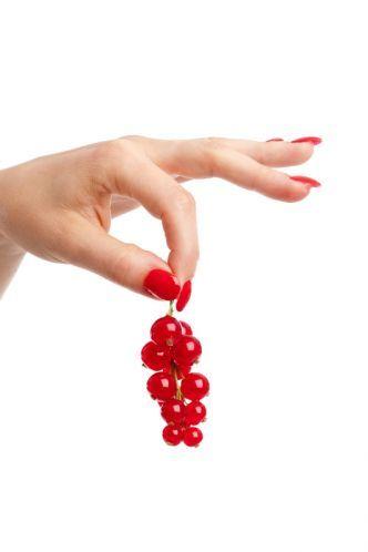 Red Padded Fingernails