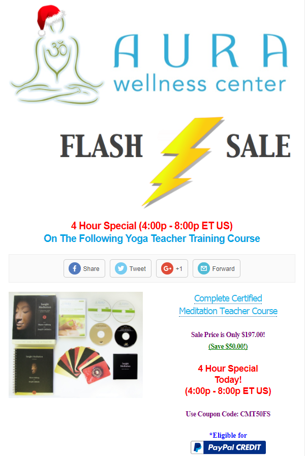 Aura Wellness Center 4 Hour Flash Sale For Complete Certified
