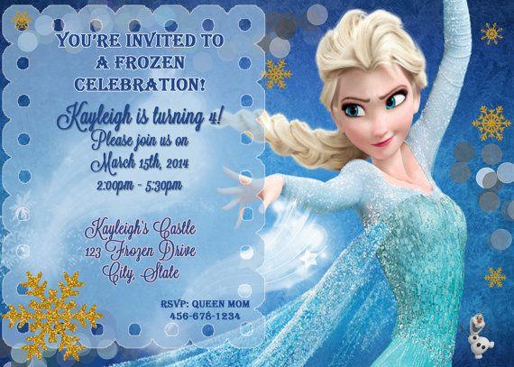 Disneys Frozen Birthday Invitation By Stephaniescollection 999