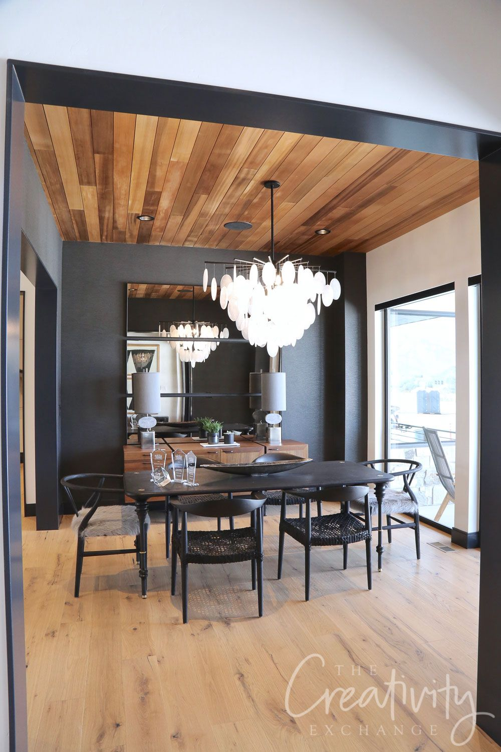 2019 Salt Lake Parade Of Homes Recap Dining Room Accents Black Dining Room Dining Room Accent Wall