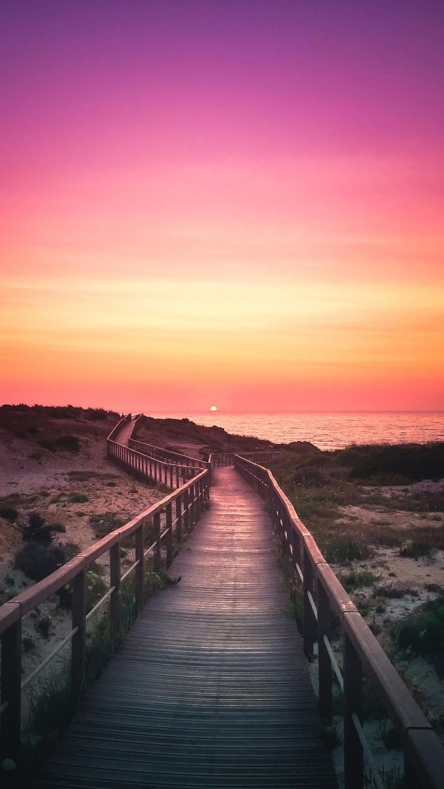 Twilight sunset | Beach sunset wallpaper, Beautiful ...