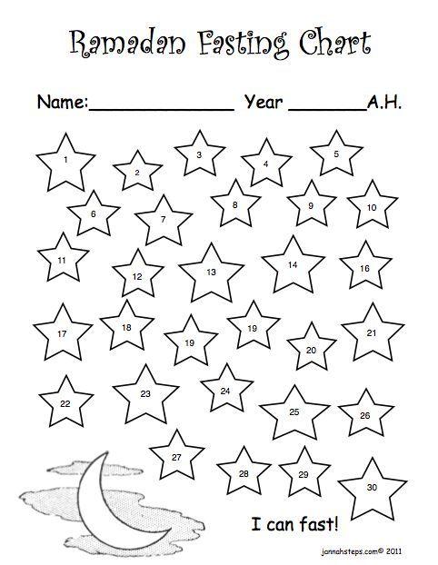 ramadan fasting chart printable raising leen pinterest