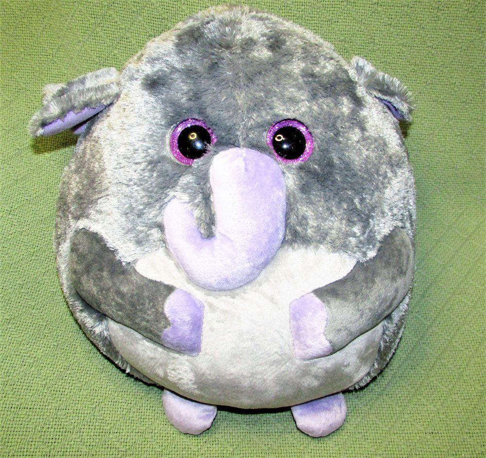 Ty BEANIE BALLZ LARGE Elephant THUNDER Plush Stuffed Grey Purple SPARKLY  EYES  Ty 2940819a7e9e