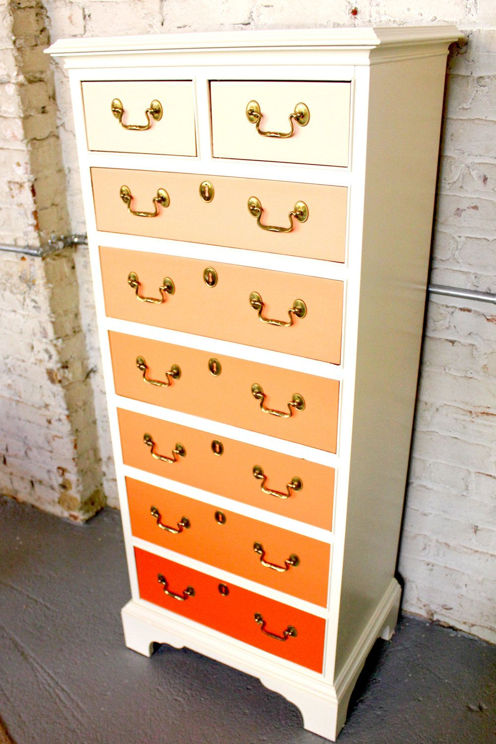 tangerine creamsicle via etsy could be easily diy 39 d with the right dresser and. Black Bedroom Furniture Sets. Home Design Ideas