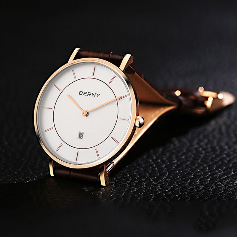 1543bc3d78c BERNY Simple Watch Ultra Thin lovely Watches High Quality Leather Strap  couple watch for Lovers DW2793