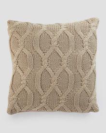 "Cable Knit Decorative Pillow 18"""