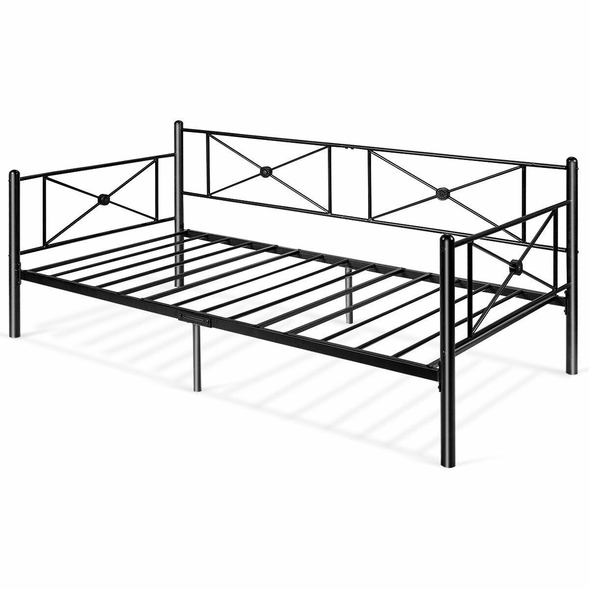 Dhp Rebecca Contemporary Metal Daybed Frame Multiple Colors Walmart Com Metal Daybed Day Bed Frame Traditional Bedroom Decor