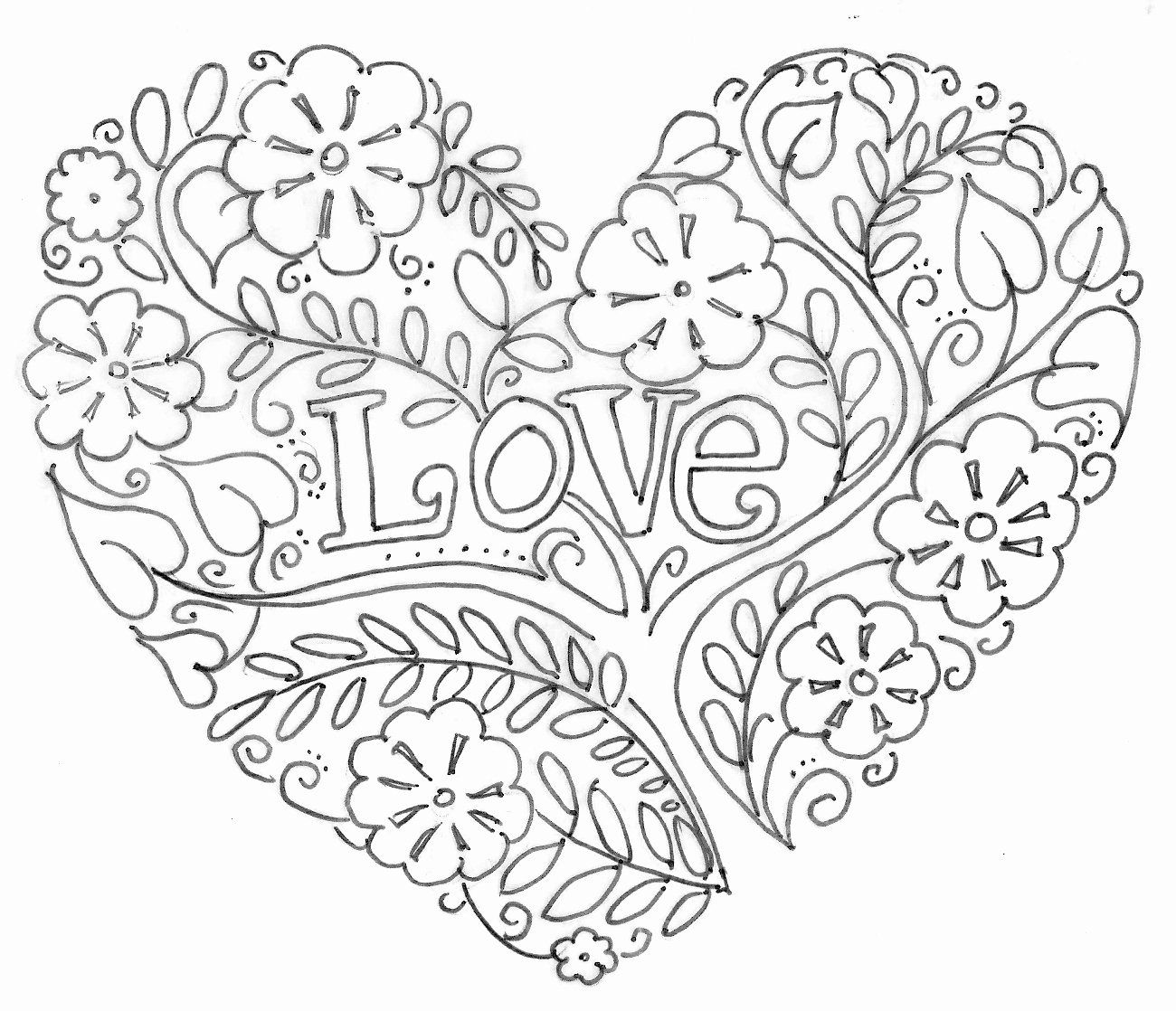 Coloring Page for Valentines Day Elegant Valentines Day Coloring